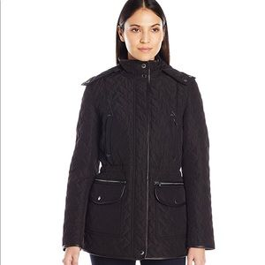 Quilted Thermo Parka With Removable Hood
